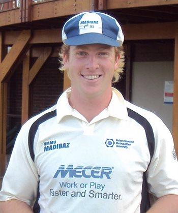 Simon Harmer Madibaz cricket club honours Simon Harmer