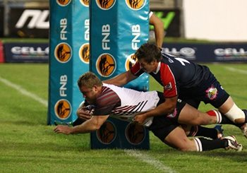 FNB NMMU is on the comeback trail in the FNB Varsity Cup after their 52-16 drubbing at the hands of FNB NWU-Pukke on Monday night. Photo: Michael Sheehan/SASPA