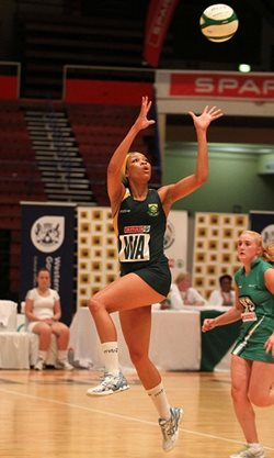 The SPAR Proteas' most capped player Zanele Mdodana will be one of the players to watch at the annual SPAR NMMU Netball Tournament, which takes place at the 2nd Avenue Campus in Summerstrand from 8am on Saturday. Photo: Reg Caldecott