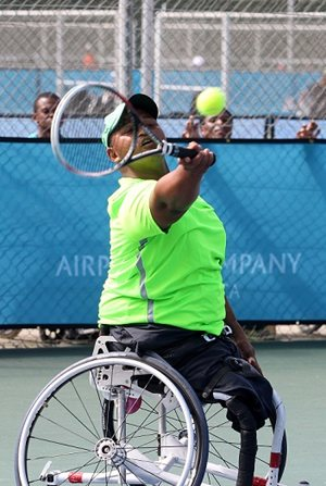NMMU student Marshall Marsh has been selected to represent South Africa at two international wheelchair tennis tournaments that take place in the United Kingdom in February. Photo: Hennie de Klerk