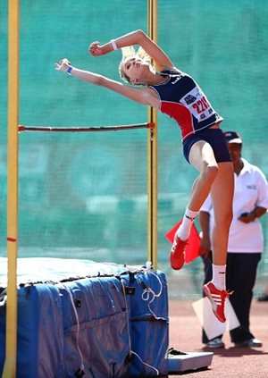 High-jumper Morita Botha is one of the athletes who will be taking the Madibaz to new heights during the first round of the FNB Varsity Athletics series at the NMMU Stadium in Port Elizabeth on March 21. Photo: Richard Huggard