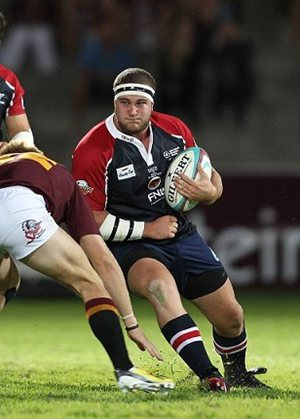 Loosehead prop Roy Godfrey will captain the FNB Madibaz for a second season at the Varsity Cup rugby tournament next month. The Port Elizabeth-based university side will face the FNB Maties in their first home game on February 3. Photo: Full Stop Communications